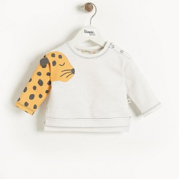 Mustique Sweatshirt Mustard Leopard 6-12M