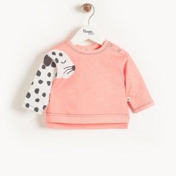 Mustique Sweatshirt Peach Leopard 18-24M