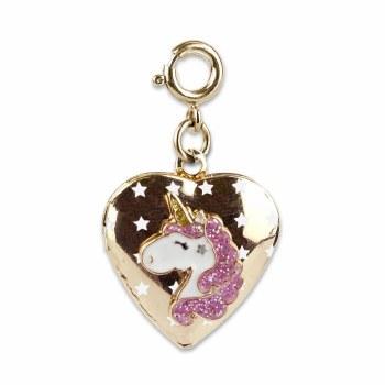 Gold Unicorn Locket Charm