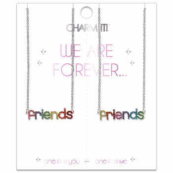 Friends Rhinestone Necklace Set