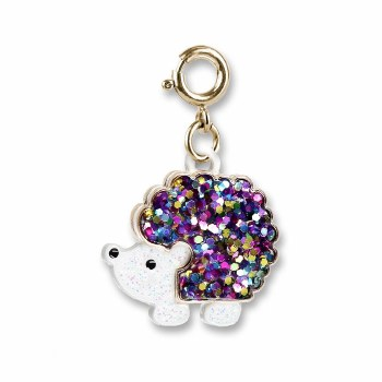 Gold Glitter Hedgehog Charm