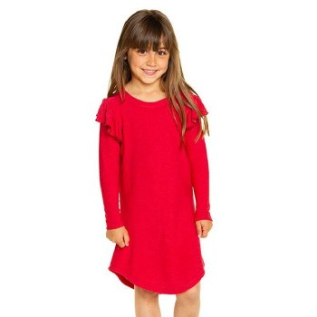 Flutter LS Cozy Dress Rouge 5