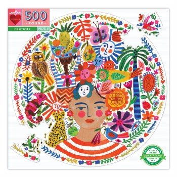 Positivity 500-Piece Round Puzzle