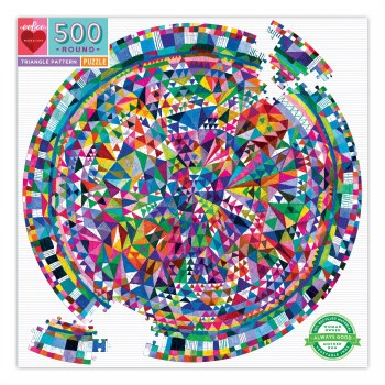 Triangle Pattern 500-Piece Round Puzzle