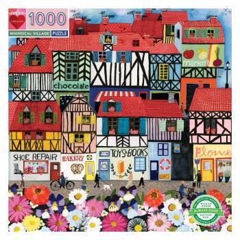 Whimsical Village 1000-Piece Puzzle