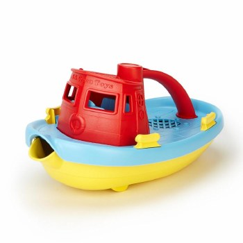 Green Toys Tugboat- Red Handle