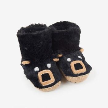 Slippers-Black Bear 5-7