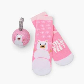 Sock Ball Cold Feet Pink 4-7