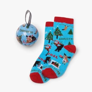 Sock Ball Wild Christmas 4-7