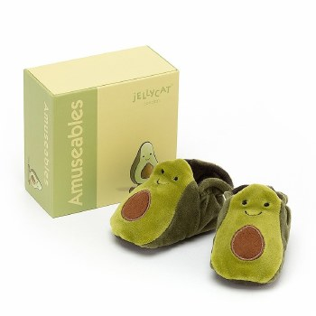 Amuseables Avocado Baby Booties