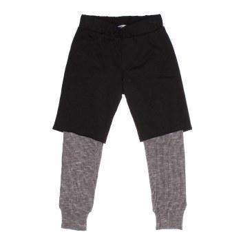 2-Fer Pants Black 4