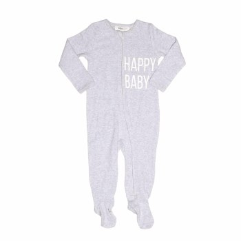 Happy Baby Footie Grey 12M