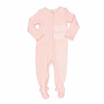 Happy Baby Footie Pink 3M