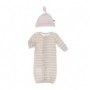 Sweet Stripe Gown & Hat NB