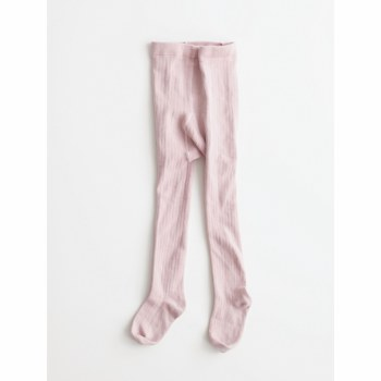 Ribbed Tights Pink 2
