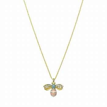 Pink Bee Necklace