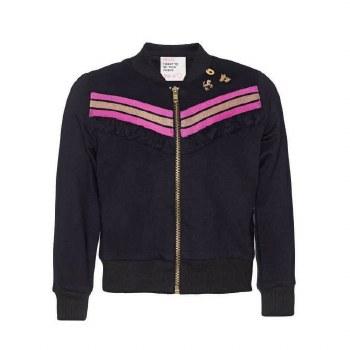 Black Zip Ruffle Jacket 2