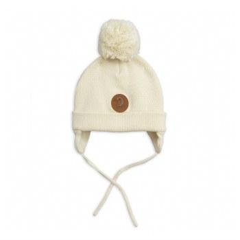 Penguin Baby Hat-Off White NB