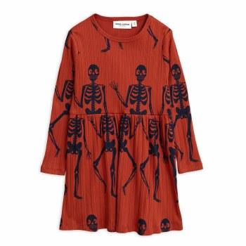 Skeleton LS Dress Red 10/11Y