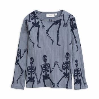 Skeleton LS Tee Blue 2/3Y