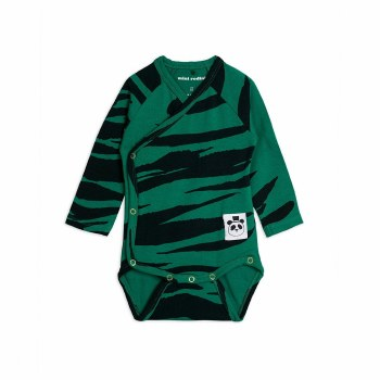 Tiger Wrap Bodysuit Green NB