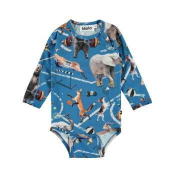 Field LS Bodysuit Animals 6M