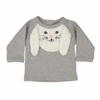 Bunny Sweatshirt Smoky 18M