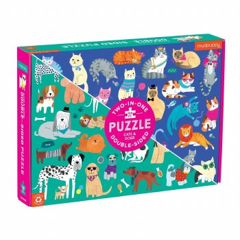 Cats & Dogs 100-Piece Double-Sided Puzzle