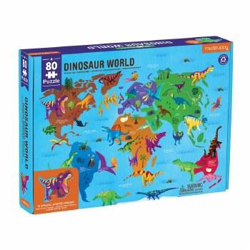 Dinosaur World Geography 80-Piece Puzzle