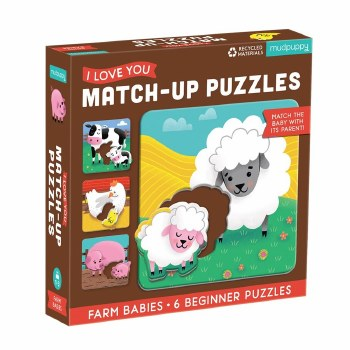 Match-up Puzzles I Love You Farm Babies