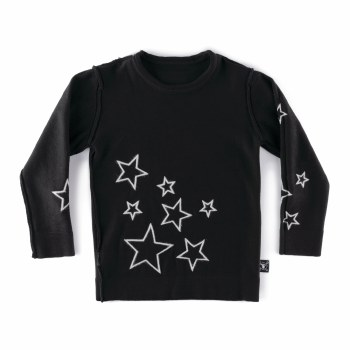 Knit Star Sweater Black 12/14