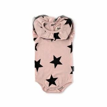 Ruffle Star Onesie Pink 6-12M