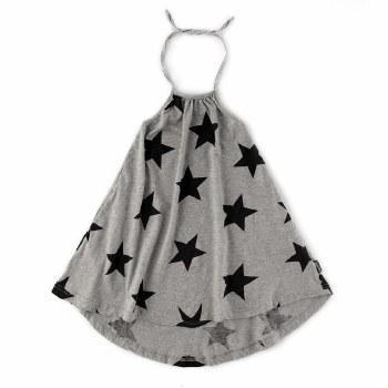 Star Halter Dress Grey 3/4
