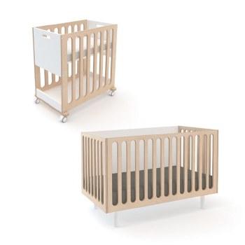 Oeuf Fawn Bassinet/Crib-White/Birch