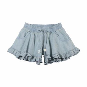 Chambray Frill Shorts 5