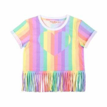 Rainbow Heart Fringe Tee 5