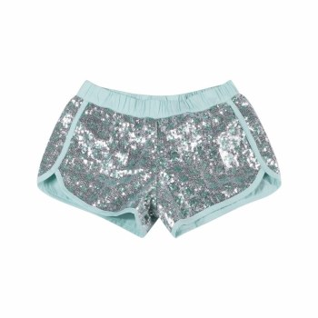 Sequin Shorts Silver/Mint 10