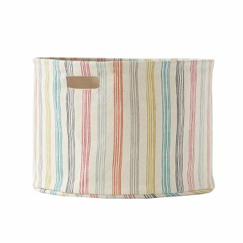 Pehr Rainbow Stripe Meduim Storage Drum