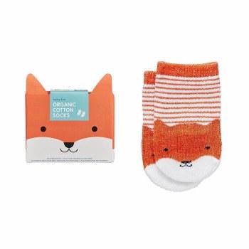 Organic Cotton Socks Baby Fox