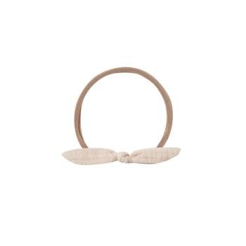 Knot Baby Headband Pebble