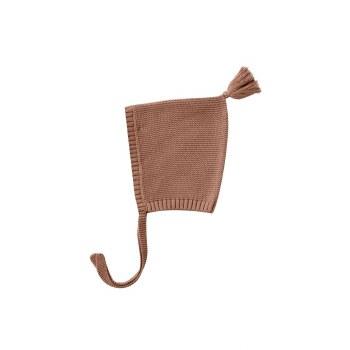 Knit Pixie Bonnet Clay 0-3M