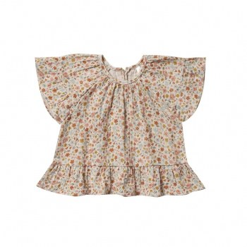 Flower Field Bttrfly Top 0-3M
