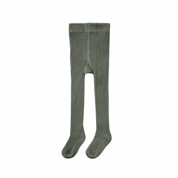 Ribbed Tights Forest 0-6M