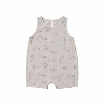 Shark Sleeveless Romp 0-3M