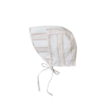 Stripe Bonnet Sand 12-18M