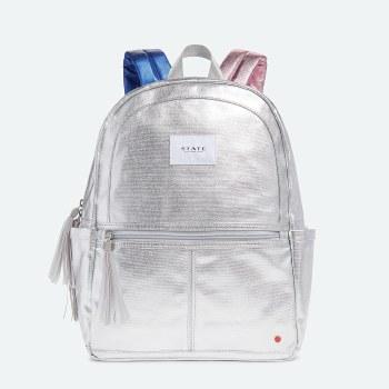 Kane Backpack Metallic Silver Multi