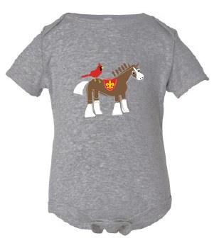 Cardinal & Clydesdale Tee 4T