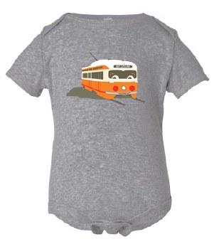 St. Louis Streetcar Onesie 3-6M