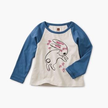 Bunny Hop Bby Raglan Tee 6-9M
