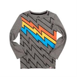 Bolt Stripe LS Tee Grey 8